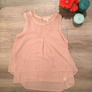 Baby Pink Layered Blouse